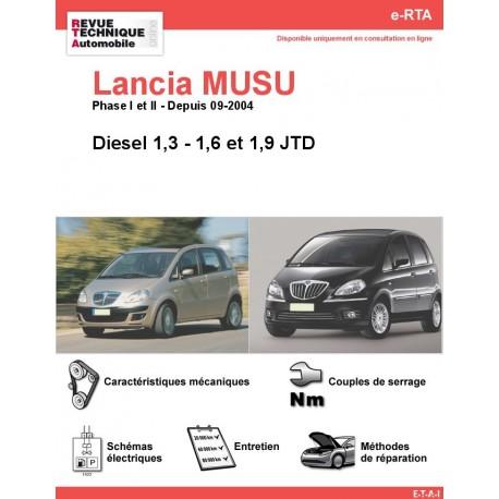 e-RTA Lancia MUSA Diesel (Depuis 09-2004)