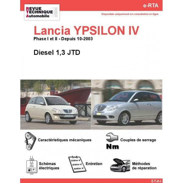 e-RTA Lancia YPSILON IV Diesel 1,3 JTD (Depuis 10-2003)