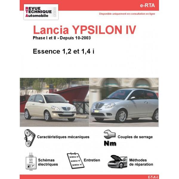 e-RTA Lancia YPSILON IV Essence (Depuis 10-2003)