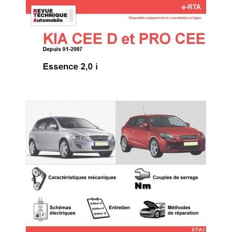 e-RTA KIA CEE D et PRO CEE D Essence 2,0 i (Depuis 01-2007)