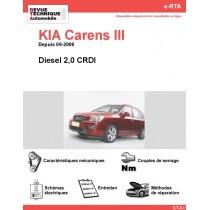 e-RTA KIA Carens III Diesel 2,0CRDI (Depuis 09-2006)