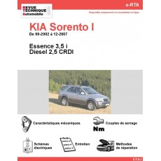 e-RTA KIA Sorento I Essence et Diesel (09-2002 à 12-2007)