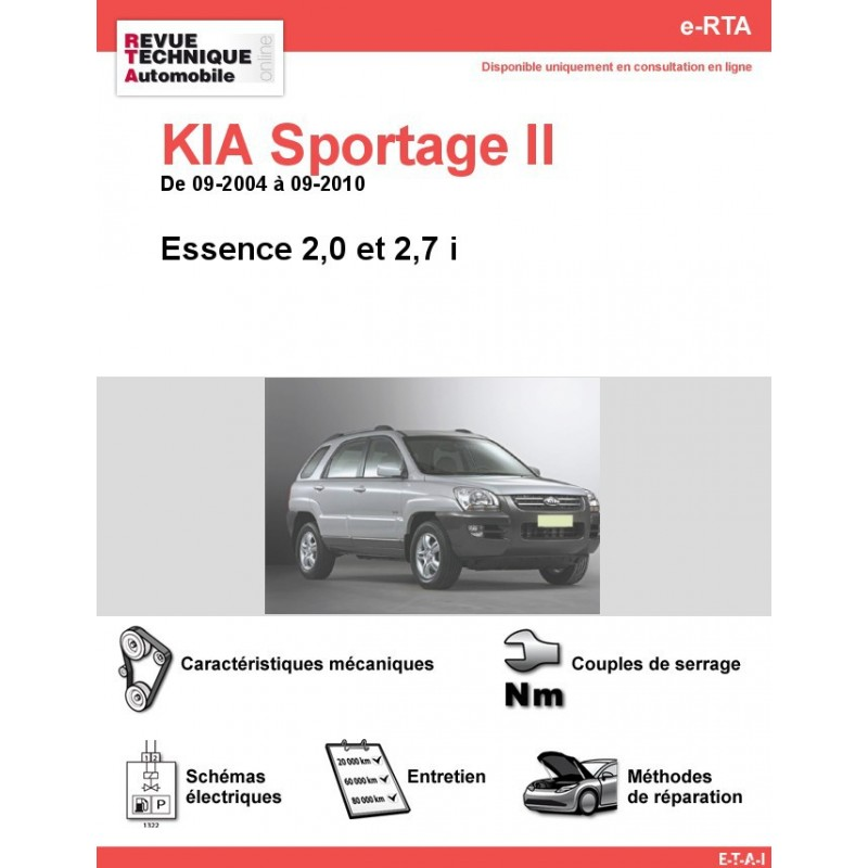 revue technique kia sportage ii essence rta site officiel etai. Black Bedroom Furniture Sets. Home Design Ideas