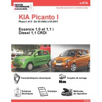 e-RTA KIA Picanto I Essence et Diesel (05-2004 à 03-2011)