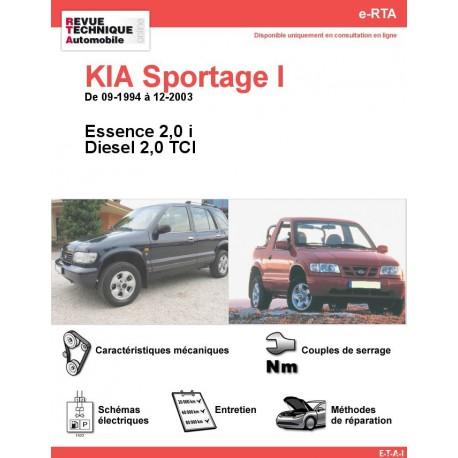 e-RTA KIA Sportage I Essence et Diesel (09-1994 à 12-2003)