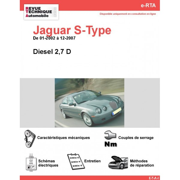 e-RTA Jaguar S-Type Diesel 2,7 D (01-2002 à 12-2007)