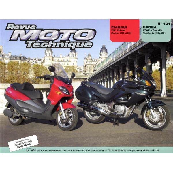 Revue Technique Rmt Piaggio x9 et Honda nt 650 v deauville
