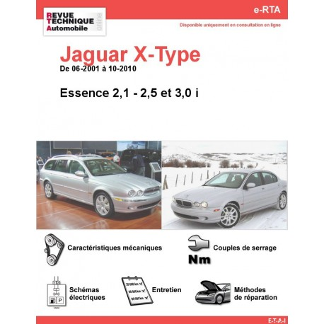 e-RTA Jaguar X-Type Essence (06-2001 à 10-2010)