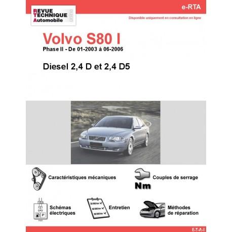 e-RTA Volvo S80 I Diesel (01-2003 à 06-2006)