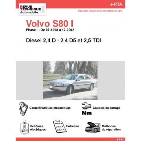e-RTA Volvo S80 I Diesel (07-1998 à 12-2002)
