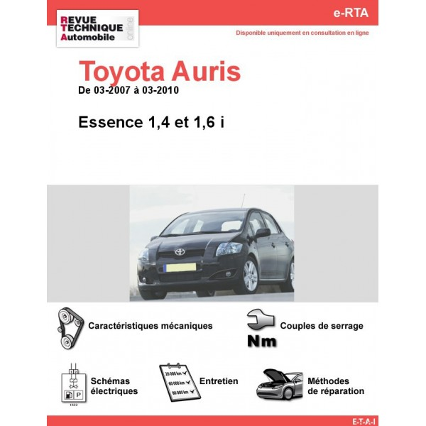 revue technique toyota auris essence rta site officiel etai. Black Bedroom Furniture Sets. Home Design Ideas