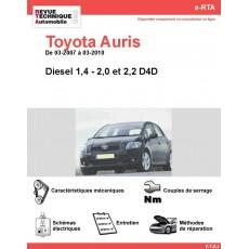 e-RTA Toyota Auris Diesel (03-2007 à 03-2010)