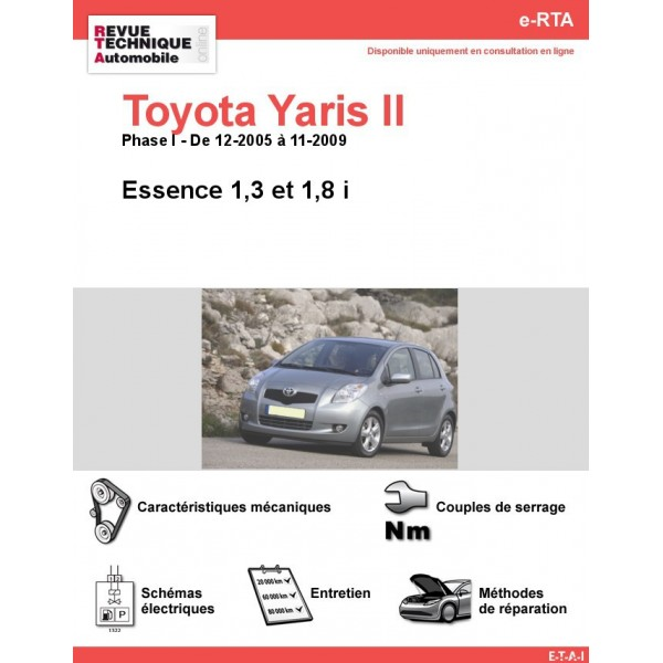 revue technique toyota yaris ii essence rta site officiel etai. Black Bedroom Furniture Sets. Home Design Ideas