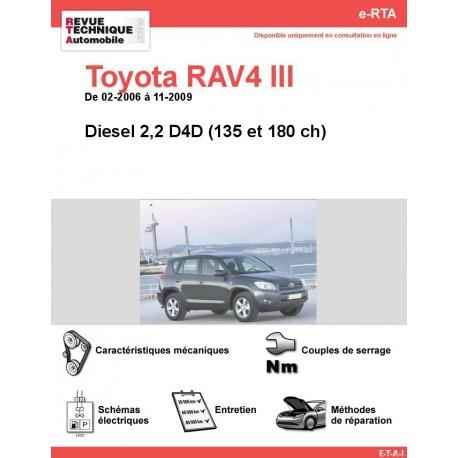 e-RTA Toyota RAV4 III Diesel (02-2006 à 11-2009)