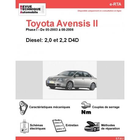 e-RTA Toyota Avensis II Diesel (05-2003 à 08-2006)