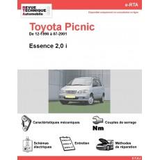 e-RTA Toyota Picnic Essence 2,0 i (12-1996 à 07-2001)