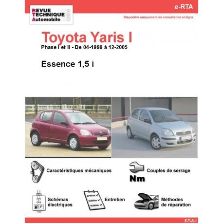 e-RTA Toyota Yaris I Essence 1,5 i (04-1999 à 12-2005)