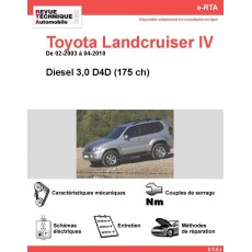 e-RTA Toyota Landcruiser IV Diesel (02-2003 à 04-2010)