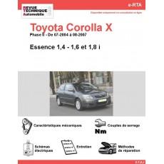 e-RTA Toyota Corolla X Essence (07-2004 à 08-2007)