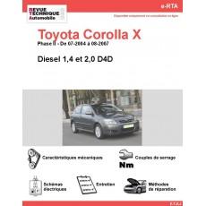 e-RTA Toyota Corolla X Diesel (07-2004 à 08-2007)