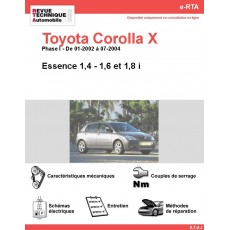 e-RTA Toyota Corolla X Essence (01-2002 à 07-2004)