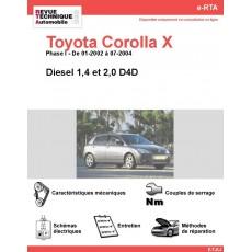 e-RTA Toyota Corolla X Diesel (01-2002 à 07-2004)