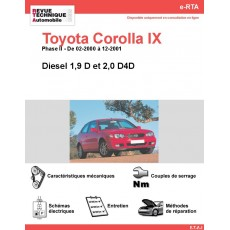 e-RTA Toyota Corolla IX Diesel (02-2000 à 12-2001)