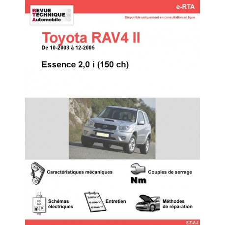 e-RTA Toyota RAV4 II Essence (10-2003 à 12-2005)