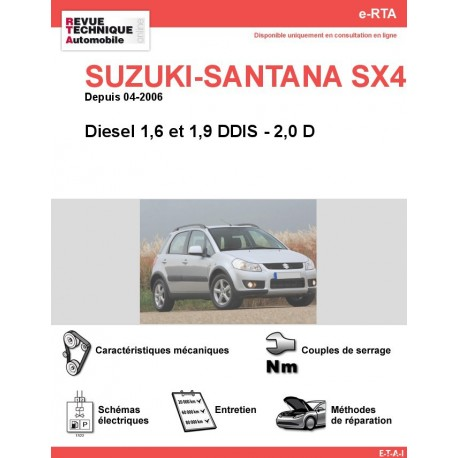 e-RTA SUZUKI-SANTANA SX4 Diesel (Depuis 04-2006)