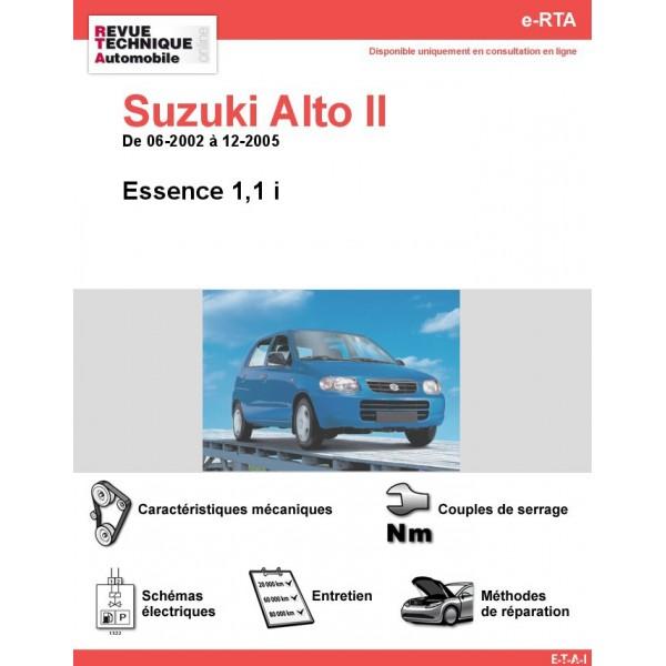 e-RTA Suzuki Alto II Essence 1,1 i (06-2002 à 12-2005)