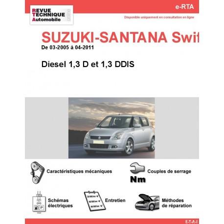e-RTA SUZUKI-SANTANA Swift III Diesel (03-2005 à 04-2011)