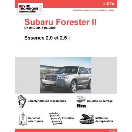 e-RTA Subaru Forester II Essence (09-2005 à 04-2008)