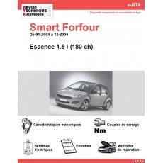 e-RTA Smart Forfour Essence 1,5i 180 ch (01-2004 à 12-2006)