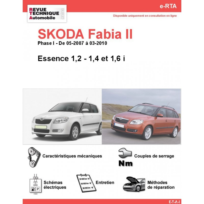 revue technique skoda fabia ii essence rta site officiel etai. Black Bedroom Furniture Sets. Home Design Ideas