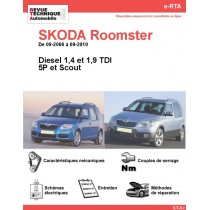 e-RTA SKODA Roomster Diesel (09-2006 à 09-2010)