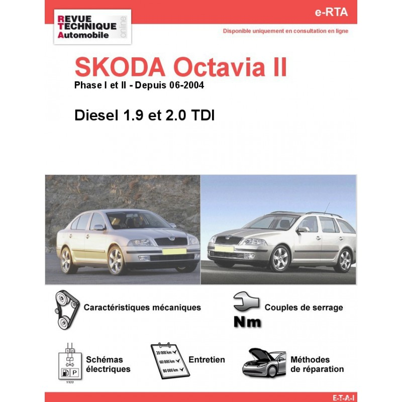 revue technique skoda octavia ii diesel rta site officiel etai. Black Bedroom Furniture Sets. Home Design Ideas