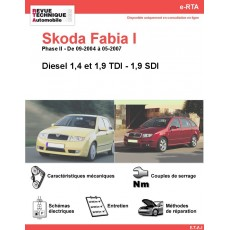 e-RTA Skoda Fabia I Diesel (Phase II: 09-2004 à 05-2007)