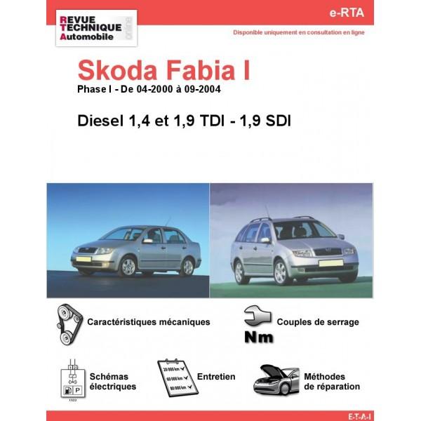 e-RTA Skoda Fabia I Diesel (Phase I: 04-2000 à 09-2004)