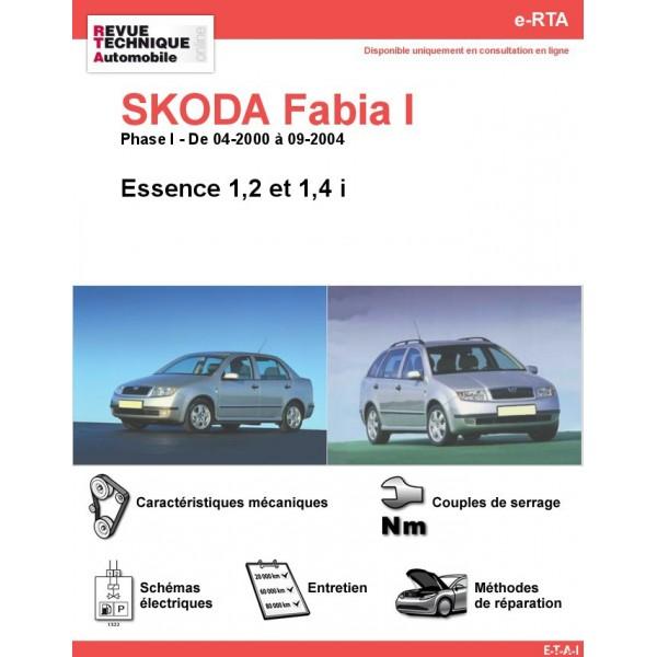 e-RTA SKODA Fabia I Essence (Phase I: 04-2000 à 09-2004)
