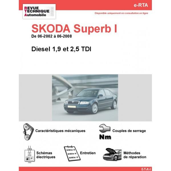 e-RTA SKODA Superb I Diesel (06-2002 à 06-2008)