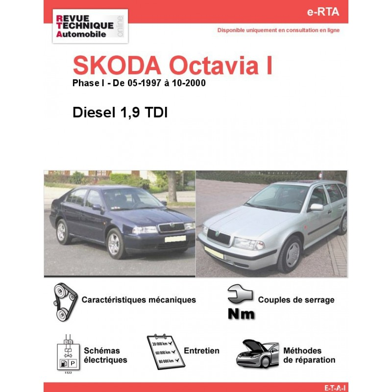revue technique skoda octavia i diesel rta site officiel etai. Black Bedroom Furniture Sets. Home Design Ideas