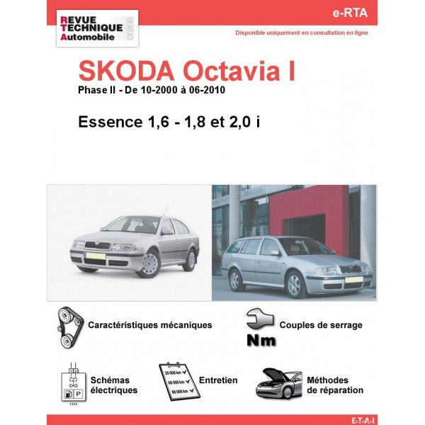 e-RTA SKODA Octavia I Essence (Phase II: 10-2000 à 06-2010)