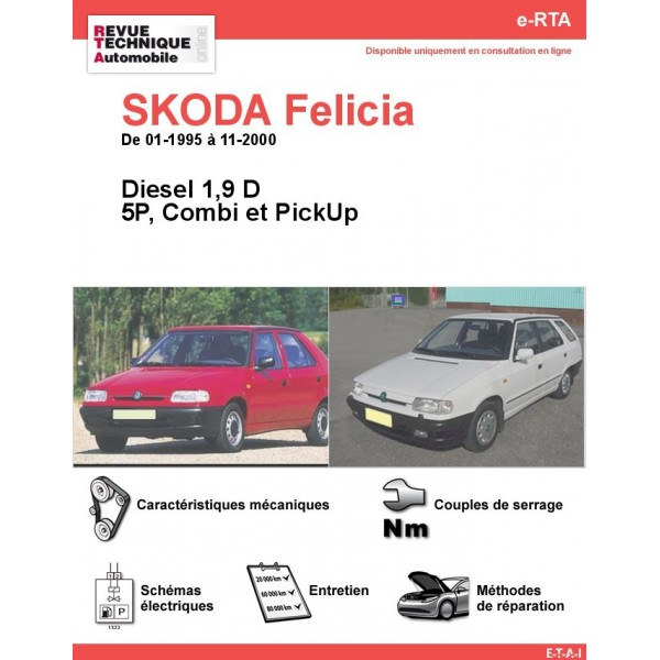 revue technique skoda felicia diesel rta site officiel etai. Black Bedroom Furniture Sets. Home Design Ideas