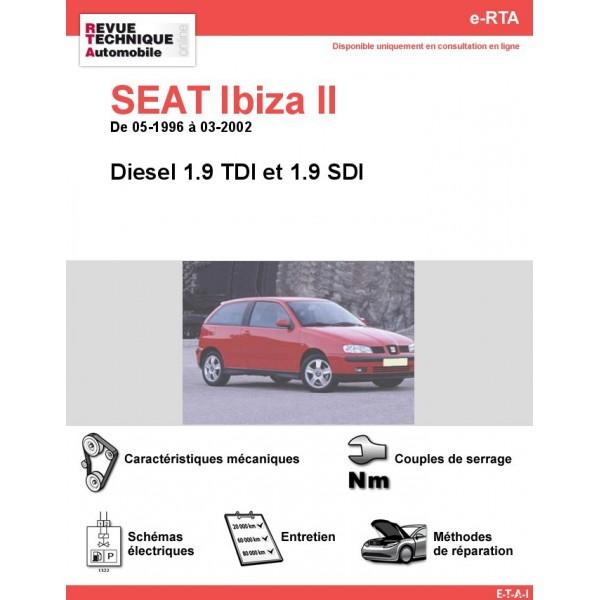 e-RTA SEAT Ibiza II Diesel (05-1996 à 03-2002)
