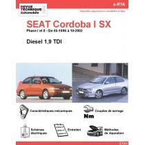 e-RTA SEAT Cordoba I SX Diesel (05-1996 à 10-2002)