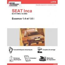 e-RTA SEAT Inca Essence (01-1996 à 12-2004)