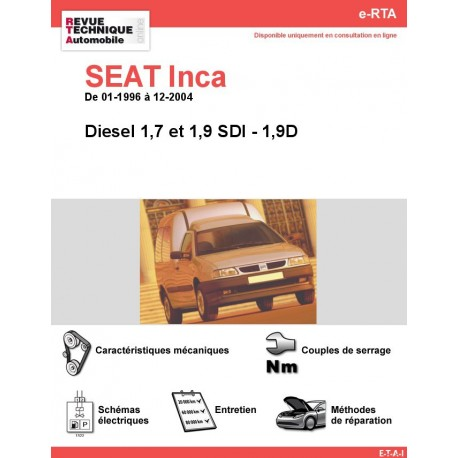 e-RTA SEAT Inca Diesel (01-1996 à 12-2004)