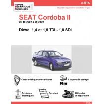 e-RTA SEAT Cordoba II Diesel (10-2002 à 05-2009)