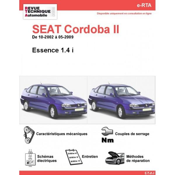 e-RTA SEAT Cordoba II Essence (10-2002 à 05-2009)