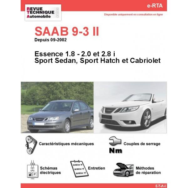 e-RTA SAAB 9-3 II Essence (Depuis 09-2002)